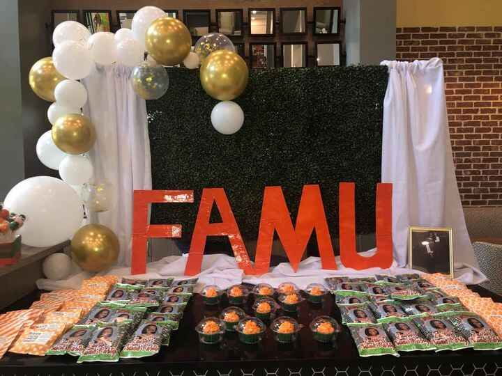 Farewell Celebration for the future FAMU Rattler. It is only fitting that we provide a custom balloon backdrop, greenery...