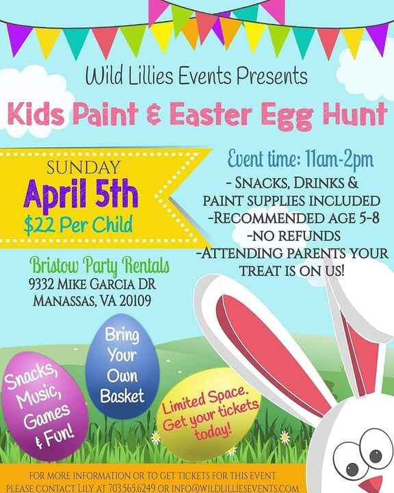 Get your tickets here! See you there! https://www.eventbrite.com/e/kids-paint-easter-egg-hunt-tickets-95527273647?aff=ea...