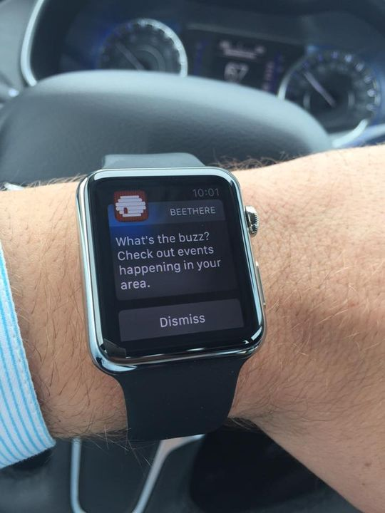 BeeThere notifications look awesome on Apple Watch! Thanks for sending this into us Matthew March!