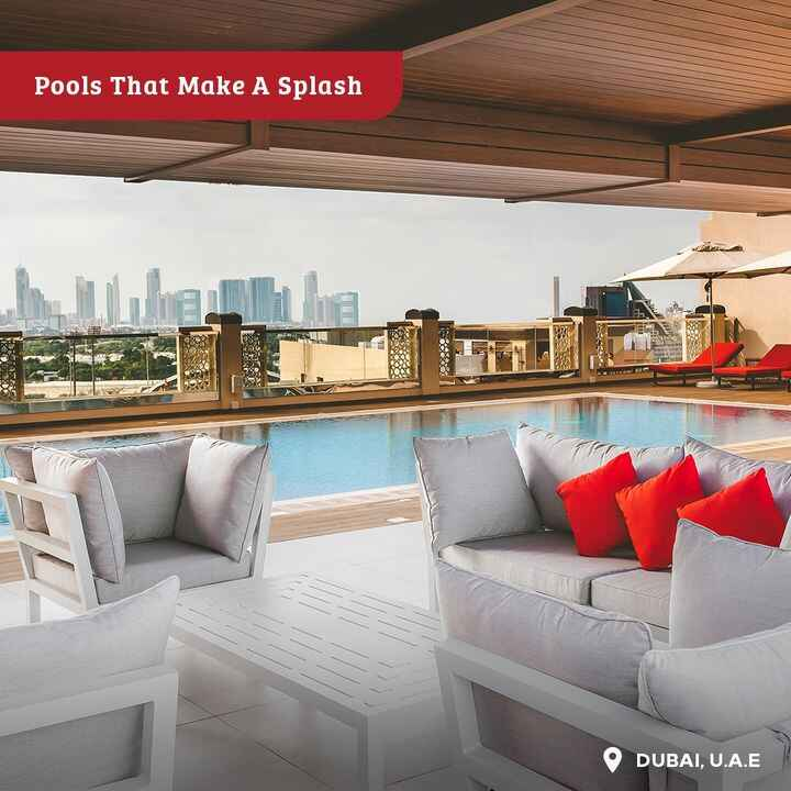This pool. That view. Plenty of shady spots. And 'windcatcher' towers designed to keep you cool. Everything you need for...