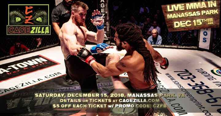 CageZilla 53 tomorrow night in Manassas Park! - https://mailchi.mp/getwylde.com/cagezilla-53-is-less-than-4-weeks-away-1...